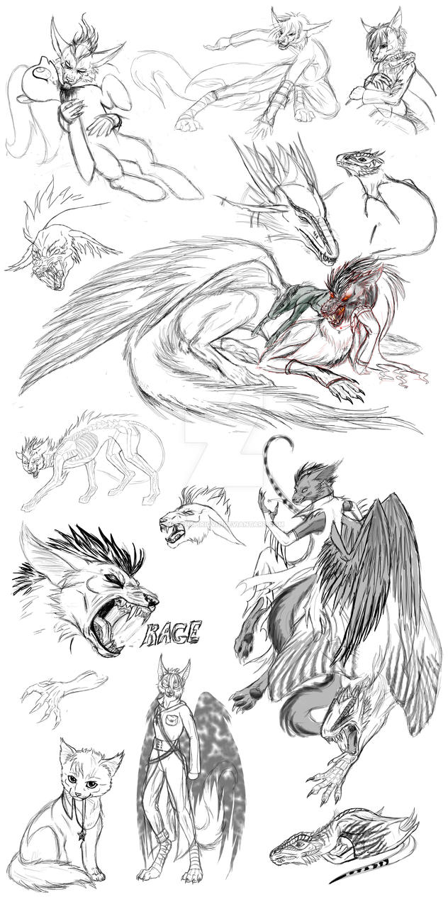 Sketchdump 01 by SiberianDragon