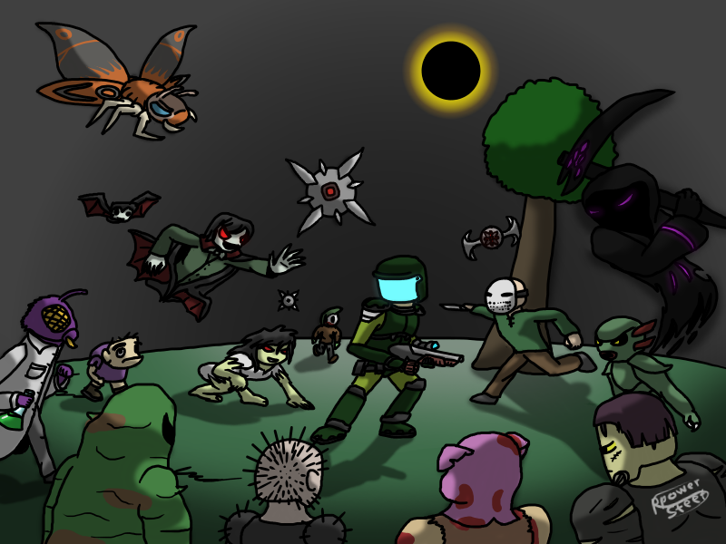 Terraria Solar Eclipse By Ppowersteef On Deviantart At long last, the solar eclipse casts its darkness to the channel. terraria solar eclipse by ppowersteef