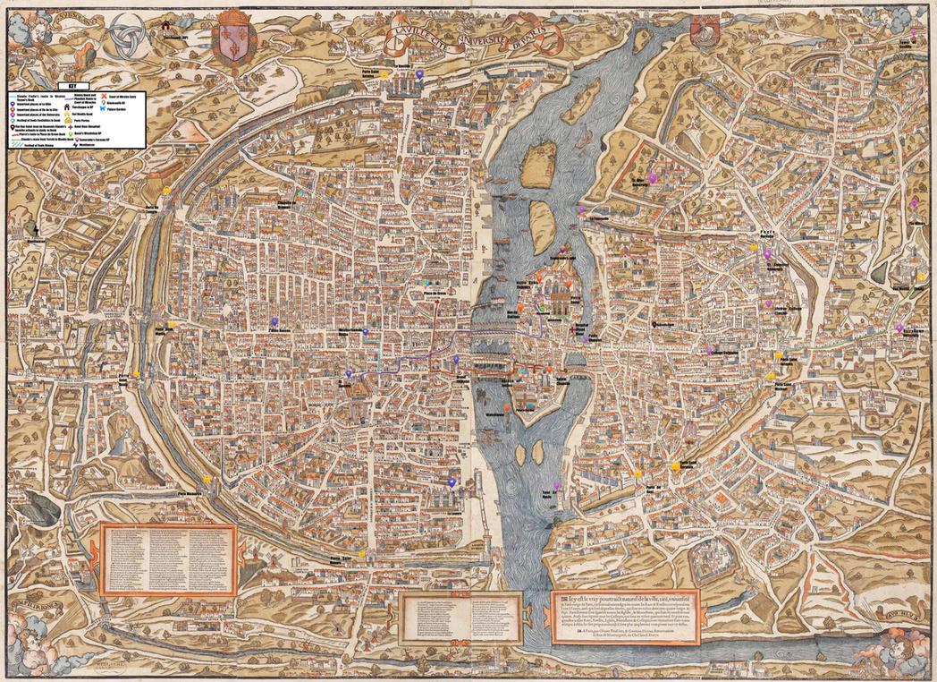Plan de Paris Disney and Book Reference Map by WDisneyRP-Esmeralda