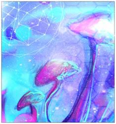 cosmic shroomis by fraeuleinkirsten
