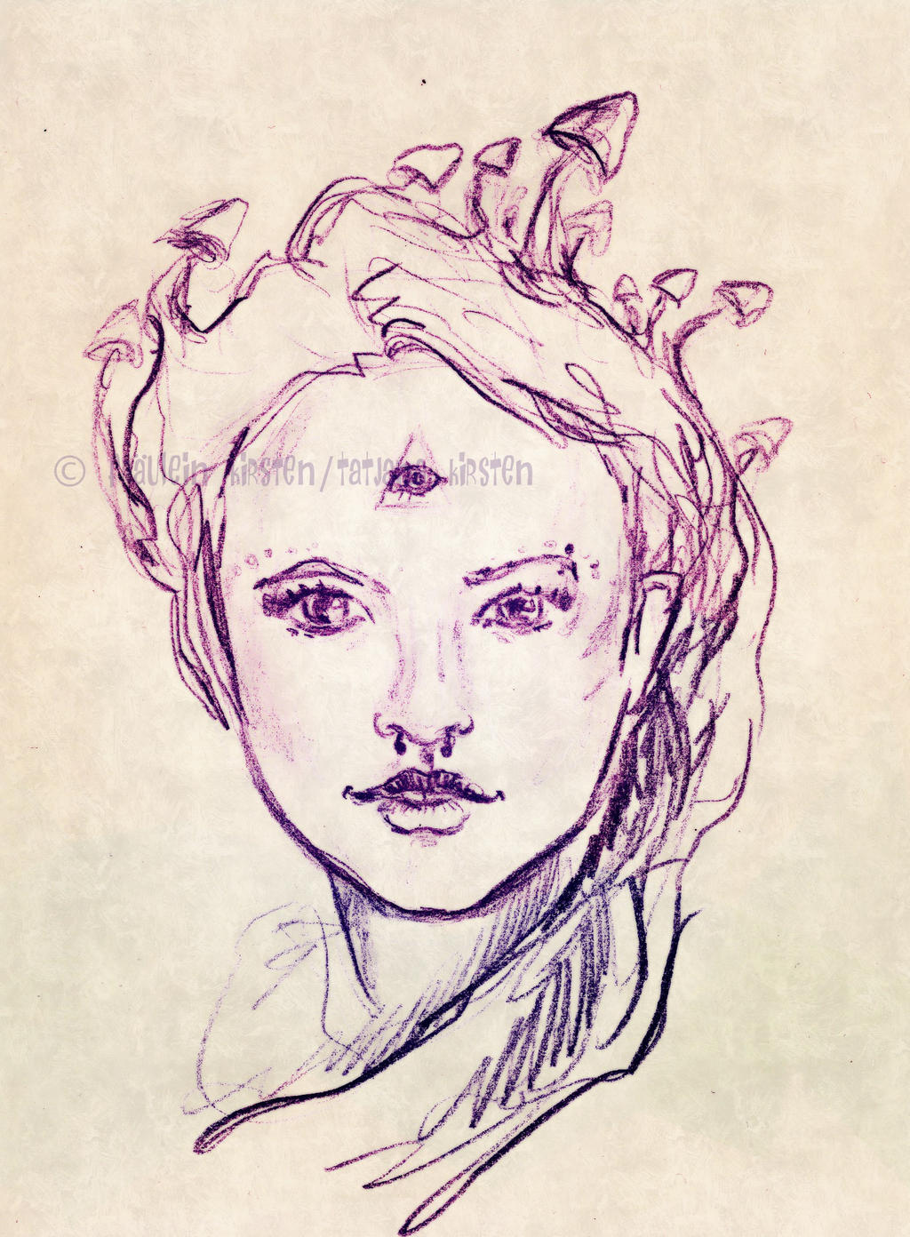 Mushroom Lady de Winter by fraeuleinkirsten