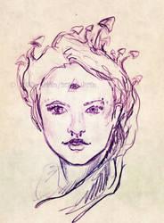 Mushroom Lady de Winter