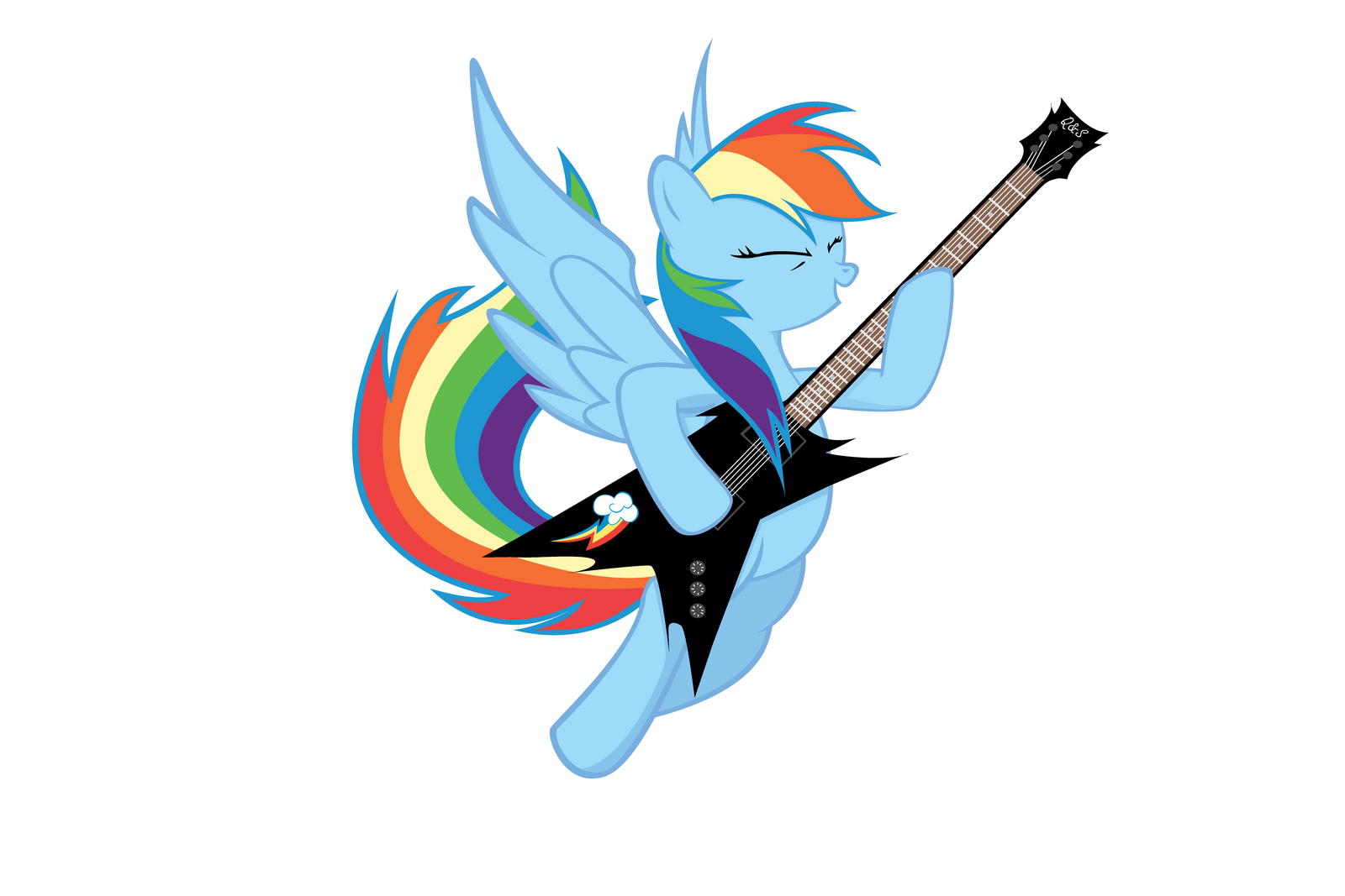 Rainbow Dash Lead Guitar By ReversalX