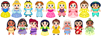 Little Disney Ladies by Anzeo