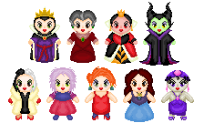 Little Disney Villainesses by Anzeo