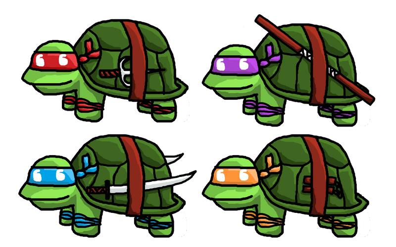 TMNT Doodlebugs by Anzeo