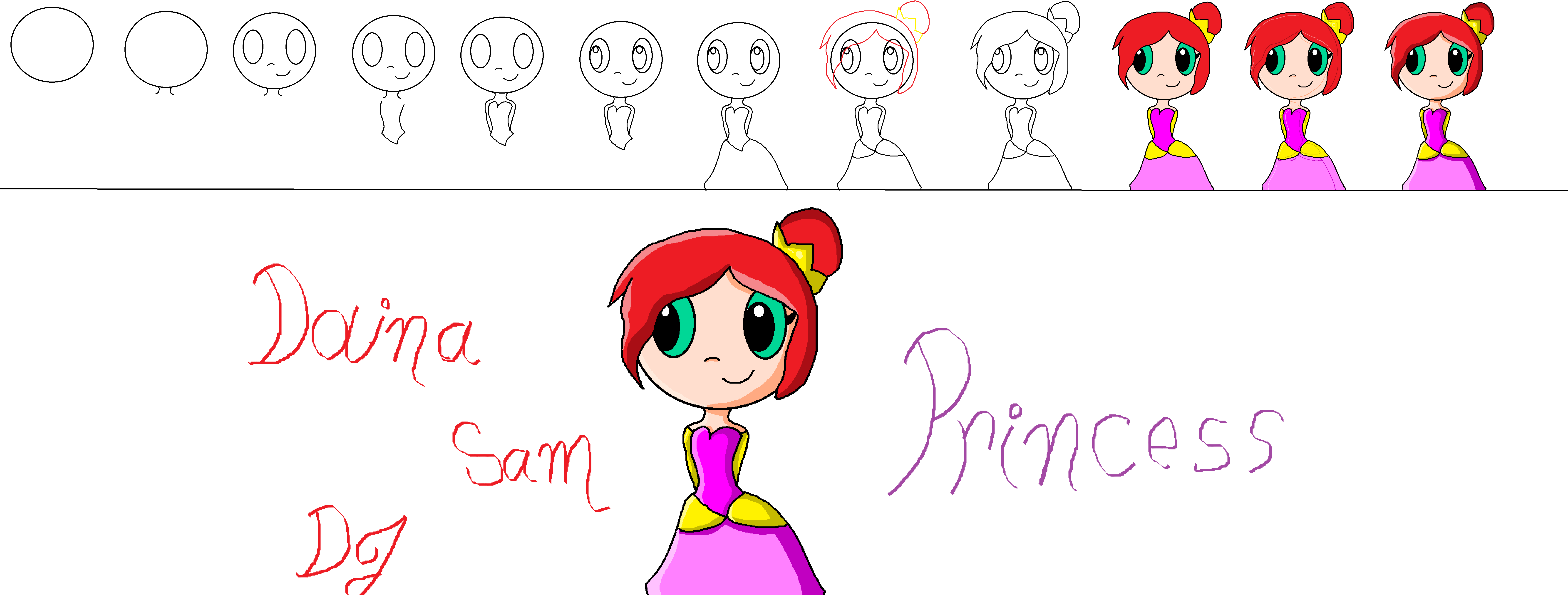 step by step how to draw a princess