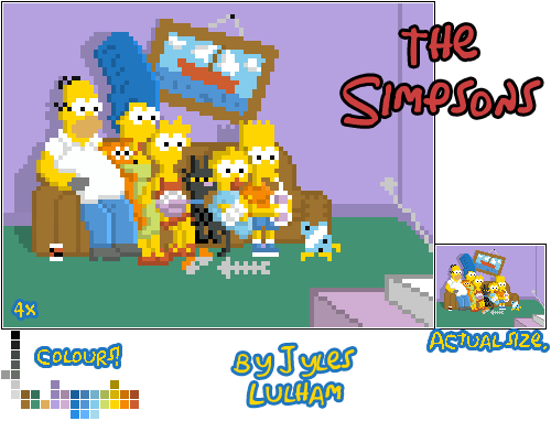 The Simpsons Living Room. By JylesLulham ...