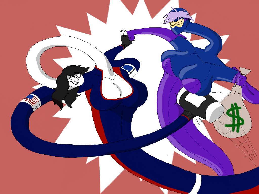 Jill vs Blu by Nish13Guilmon