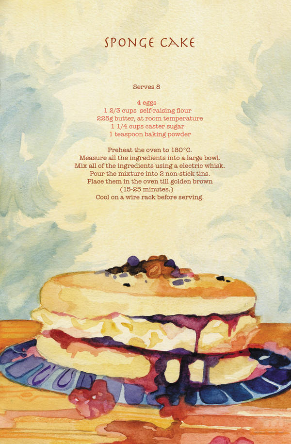 Recipe - Spongecake by PaperandDust