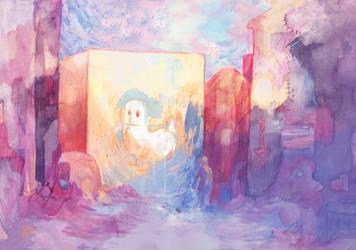Dickbutt - Majestic dawn by PaperandDust
