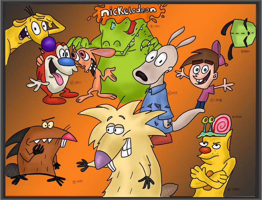 Cartoon Characters Nick : Nickelodeon characters colored by kaggai lunar wolf on
