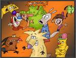 Nickelodeon characters colored