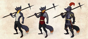penguin fox armor design