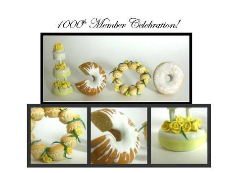 1000th Member Celebration Cake
