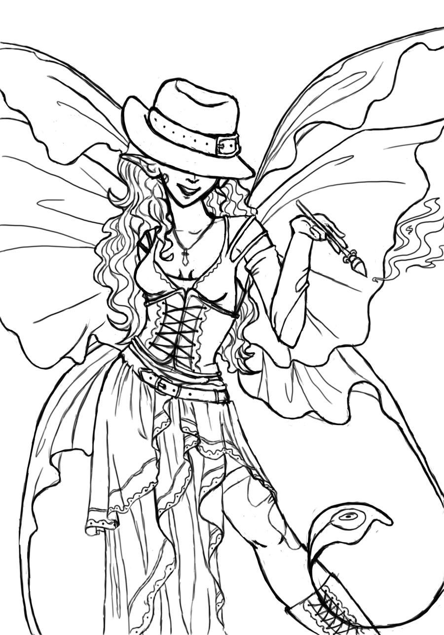 Lineart Fairy by Juuuleee on DeviantArt
