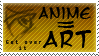 Anime is Art Stamp by tori-no-uta