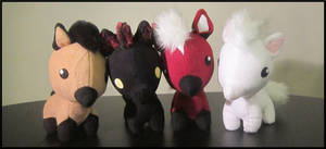 Family group photo of Zelda horses from OOT