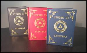Zelda sketch books available in 3 colors !! by Maz-Zeldette