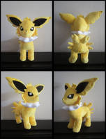 Jolteon Eeveelution Plushie by Maz-Zeldette