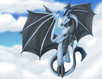 The Blue dragon in the skies