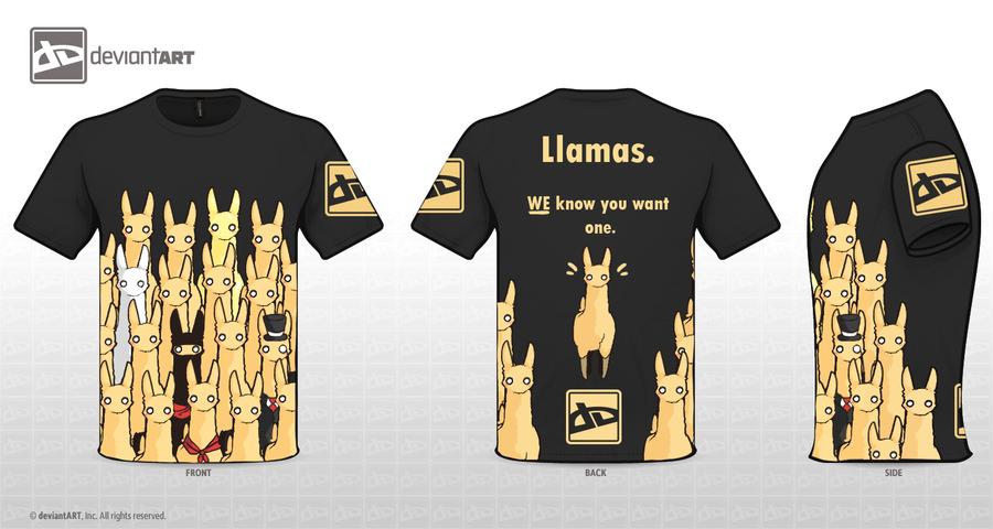 Llamas know T-shirt by Nakubi