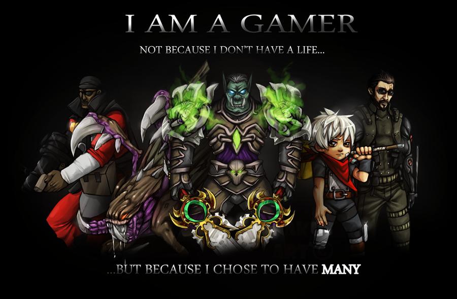 i am a gamer commission by nakubi on deviantart