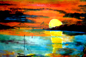 Sun Over the Bridge by joboscott