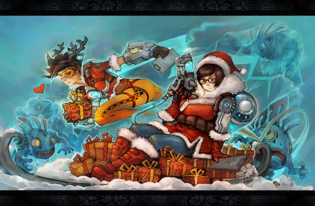 Mei christmas by liuhao726 on deviantart - Overwatch christmas wallpaper ...