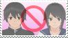 Commission stamp:: ANTI Taro X Ayano :: by Kick-Smile-Plz