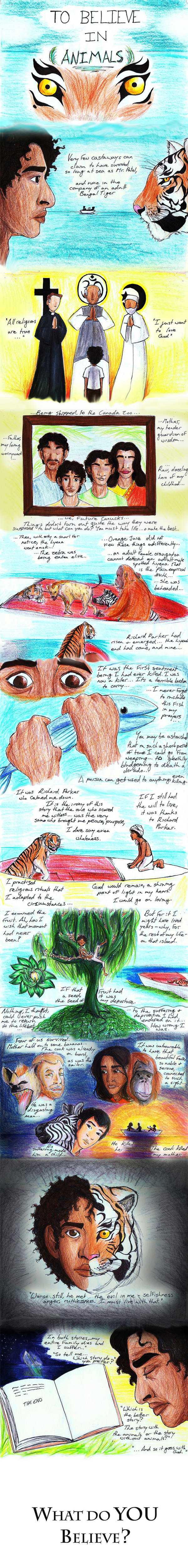 the fictitious story of survival at sea with richard parker in life of pi a novel by yann martel Pi's survival can be put down to one simple thing, his trust in god discuss canadian author yann martel portrays pi as such a strong-minded human being in his novel 'life of pi', the story shows that pi's hunger to survive gets him through the whole ordeal of being stranded at sea.