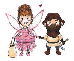 A Ditzy Fairy and a Dreamy Dwarf by JoeyHazelLM