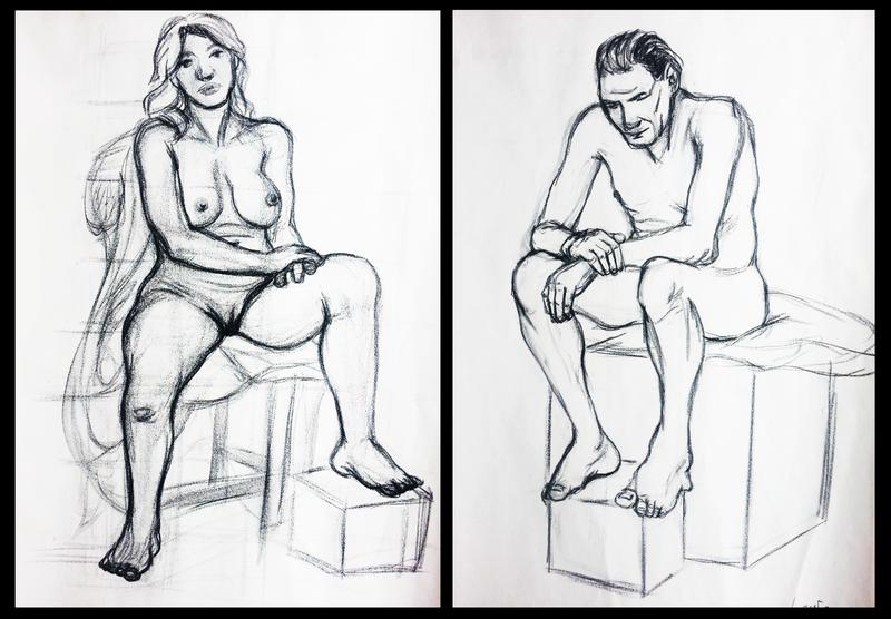 Figure Drawings by JoeyHazelLM