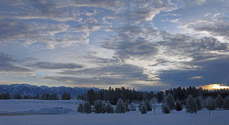 Sunrise in the Winter by MyPhotoParadise