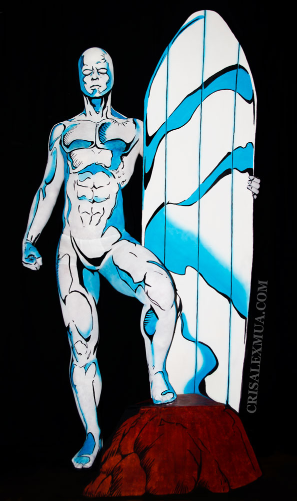 Silver Surfer Full Body Paint By Crisalexmua On Deviantart