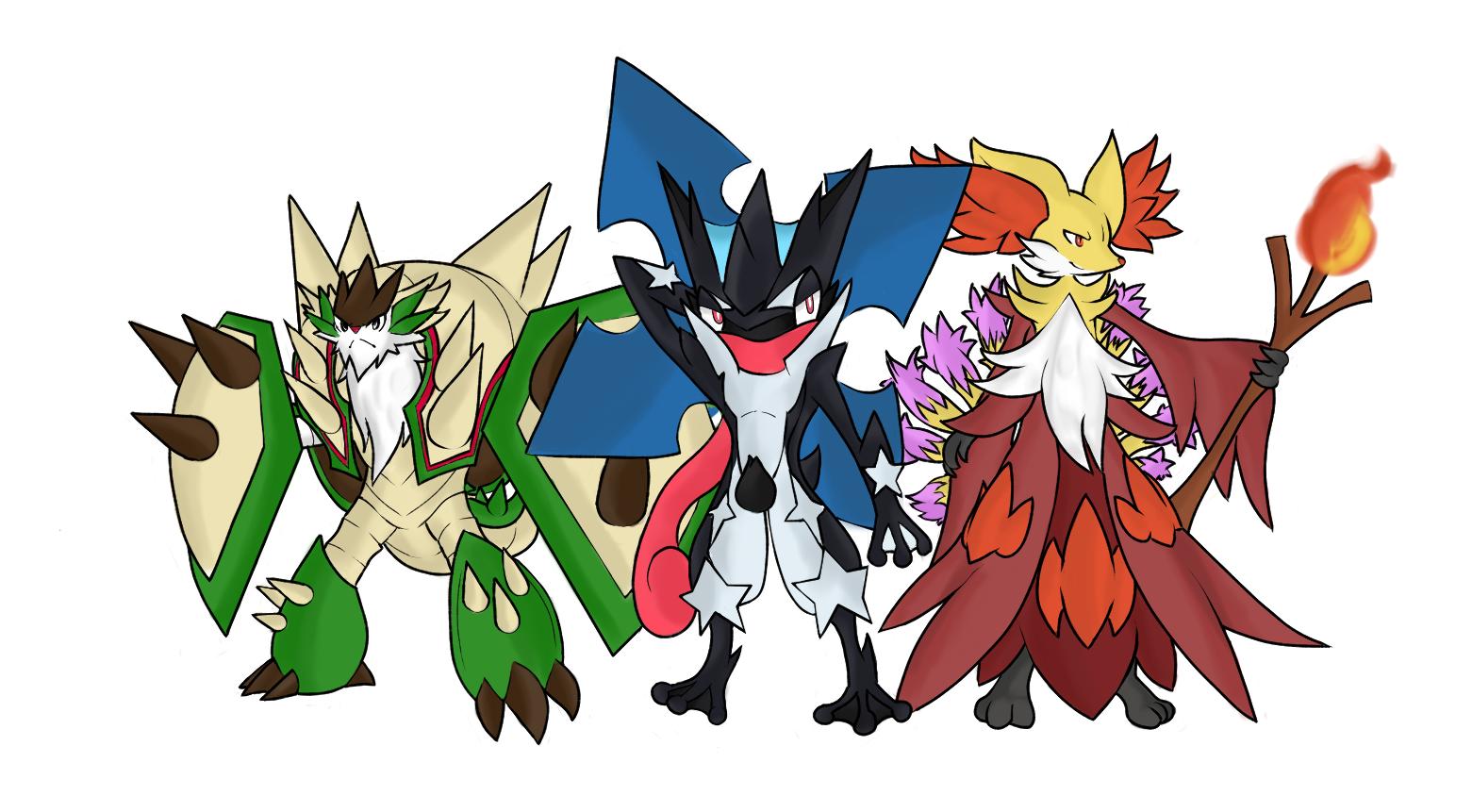 Mega evolution 6 gen starters by betax64 on deviantart - X mega evolutions ...