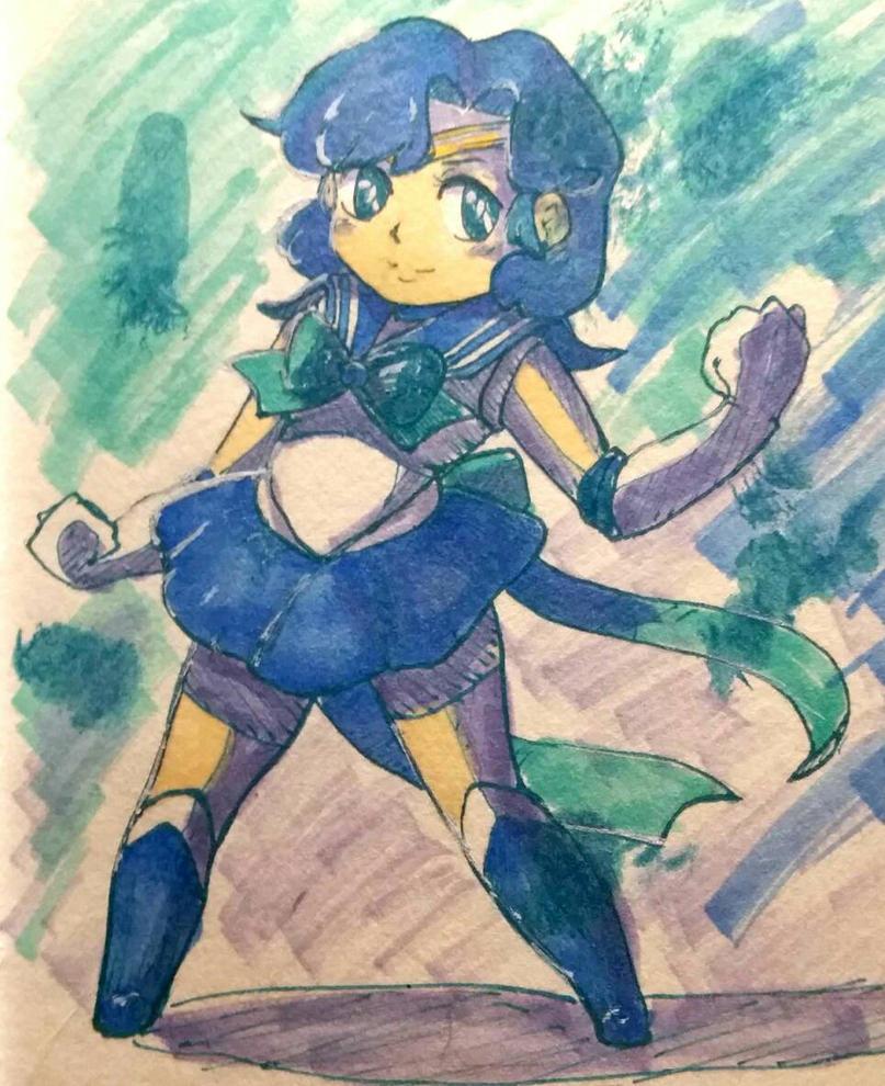 Sailor Mercury  by BasementScum