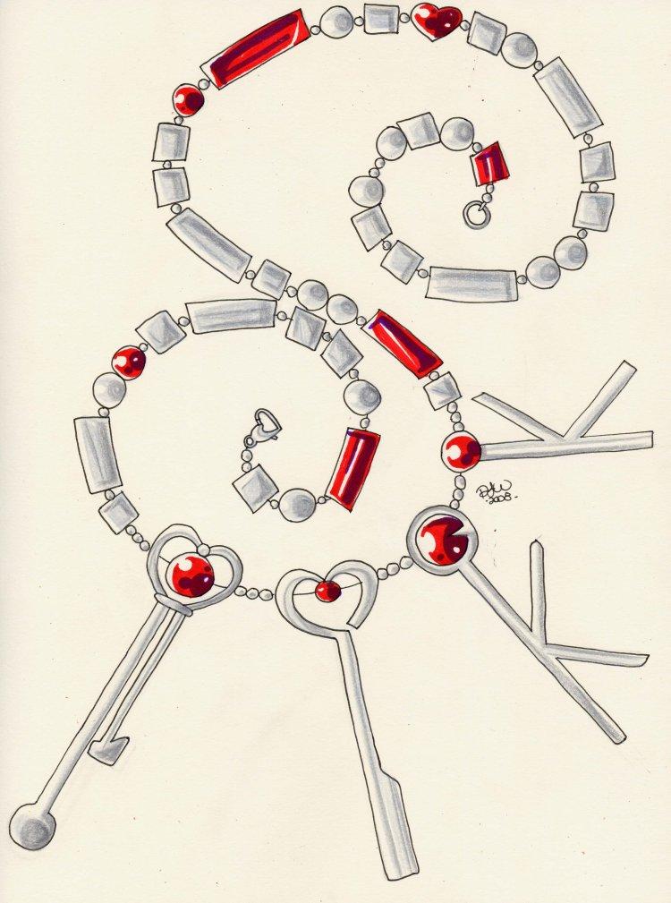 Sailor Pluto's Key Belt by tini
