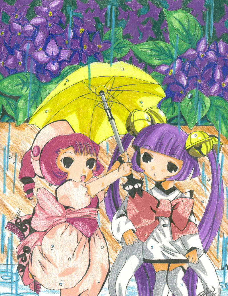 Sumomo And Kotoko COLORED By Tini