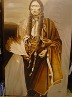 QUANAH PARKER LAST CHIEF OF THE COMANCHES. OIL by TonyNapolitano