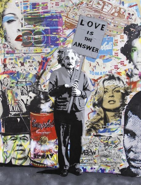 Love is the answer by abloggingape on deviantart for Mural mr brainwash