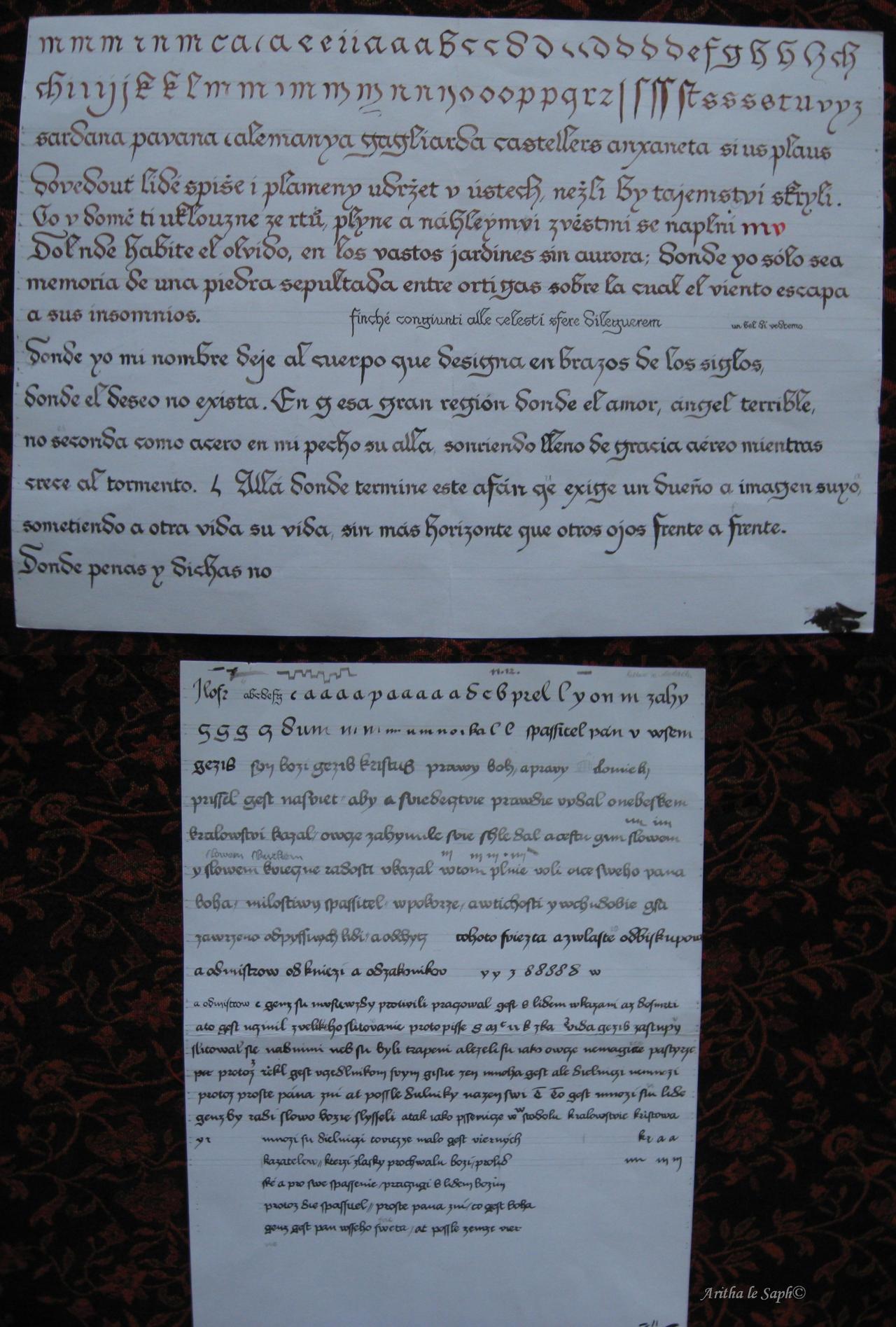 Calligraphy tutorial bastarda by saphireta on deviantart