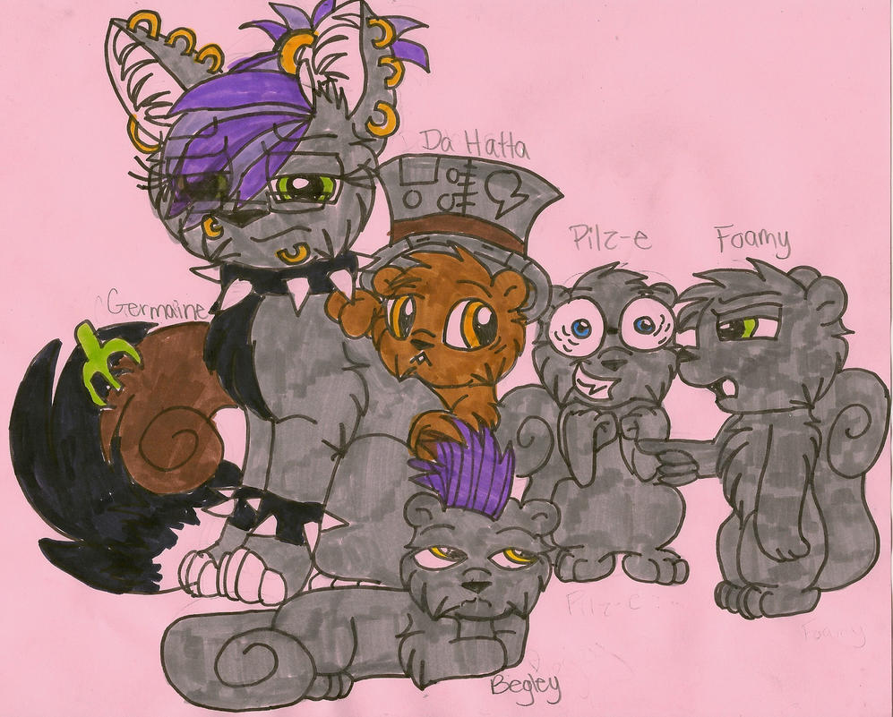 fanart germaine and the squirrels by kaijudragon on