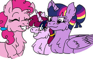 [Gift] The TwiPie Family by KaijuDragon