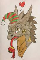 Christmas Headshot RQ: Ellanore by KaijuDragon