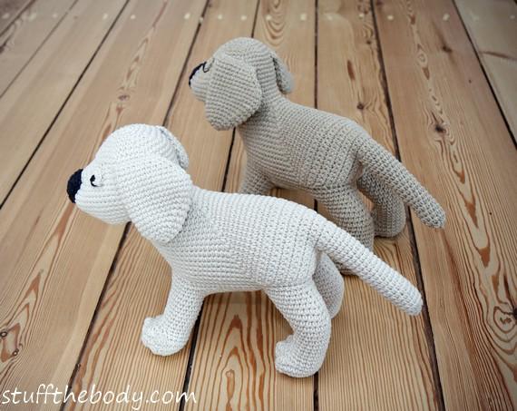 Free Amigurumi Dog Patterns : Gus the labrador puppy dog amigurumi pattern by stuffthebody on