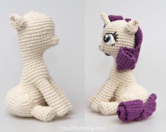 Ponytail Amigurumi : Rarity based on Seamless Sitting Pony Pattern by ...