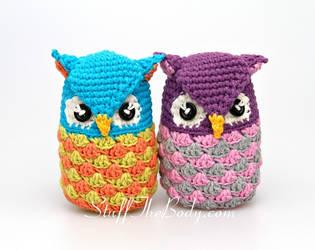Seamless Amigurumi Owls