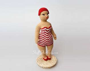 Seamless Chubby Beach Lady