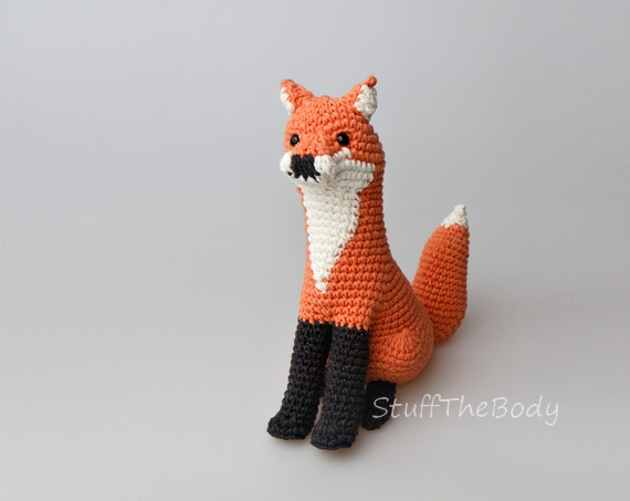 Zorro amigurumi tejido a crochet (amigurumi Fox) | Crochet.eu | 453x570